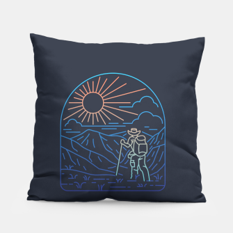 Thumbnail image of Hiker Line Pillow, Live Heroes