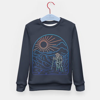 Thumbnail image of Hiker Line Kid's sweater, Live Heroes