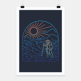 Thumbnail image of Hiker Line Poster, Live Heroes