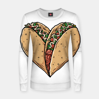 Thumbnail image of Tacos Lover Women sweater, Live Heroes