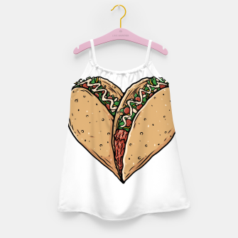 Tacos Lover Girl's dress thumbnail image