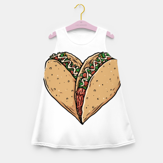Tacos Lover Girl's summer dress thumbnail image