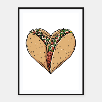 Thumbnail image of Tacos Lover Framed poster, Live Heroes