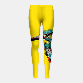 Kingfisher v2 vastd Girl's leggings thumbnail image