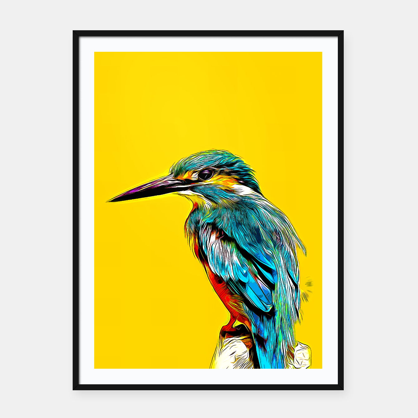 Image of Kingfisher v2 vastd Framed poster - Live Heroes