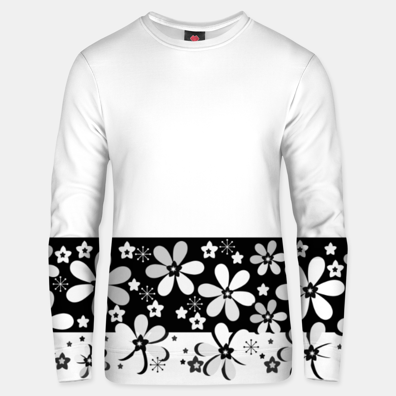 Image of  Black and white daisies Unisex sweater - Live Heroes