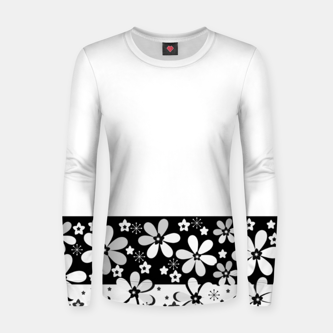 Image of  Black and white daisies Women sweater - Live Heroes