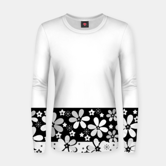 Black and white daisies Women sweater thumbnail image