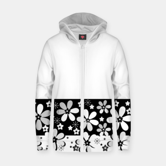 Black and white daisies Zip up hoodie thumbnail image