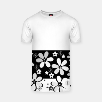 Miniatur  Black and white daisies T-shirt, Live Heroes