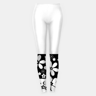 Miniatur  Black and white daisies Leggings, Live Heroes