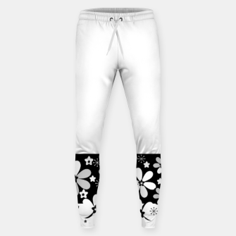 Thumbnail image of  Black and white daisies Sweatpants, Live Heroes