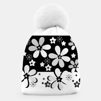 Miniatur  Black and white daisies Beanie, Live Heroes
