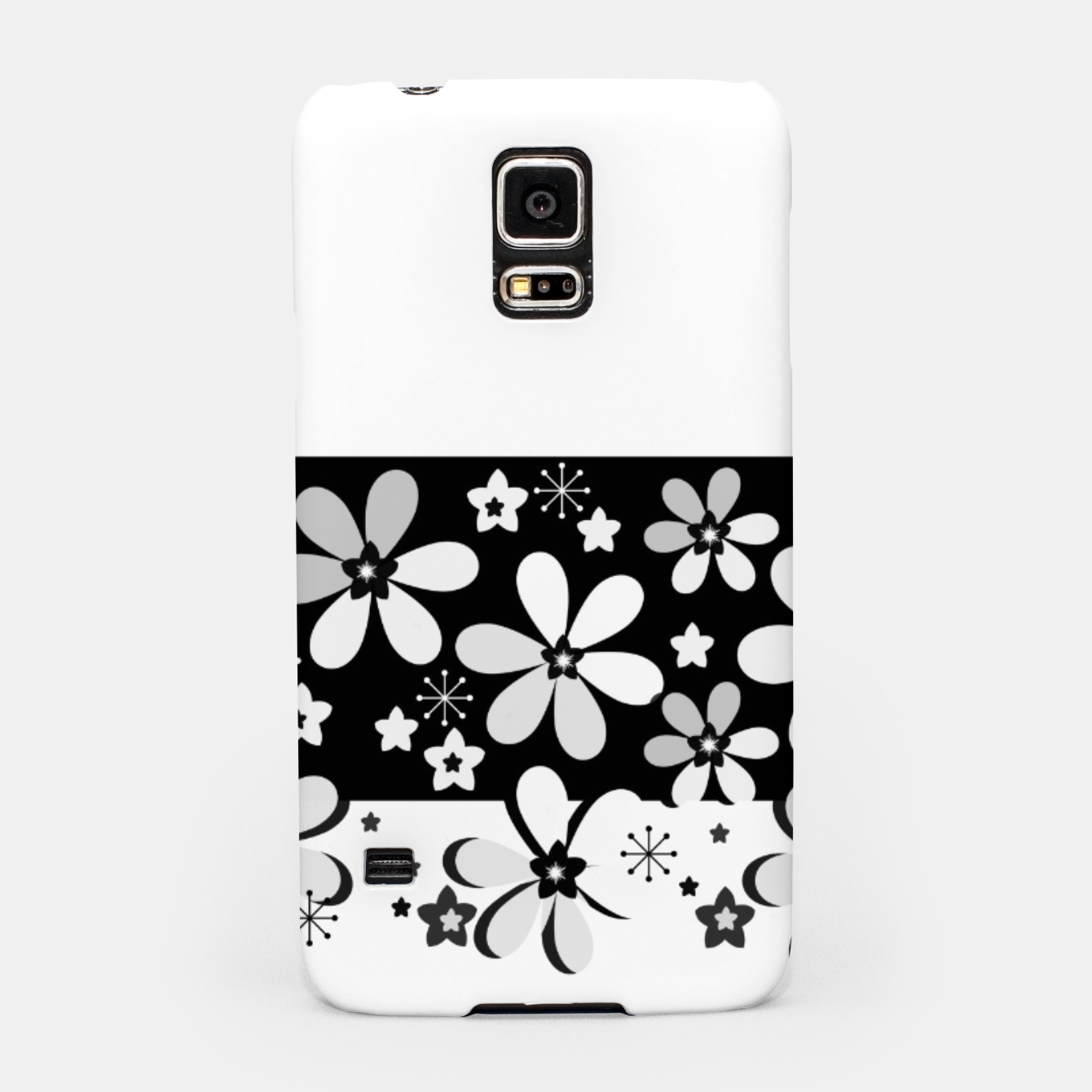 Image of  Black and white daisies Samsung Case - Live Heroes