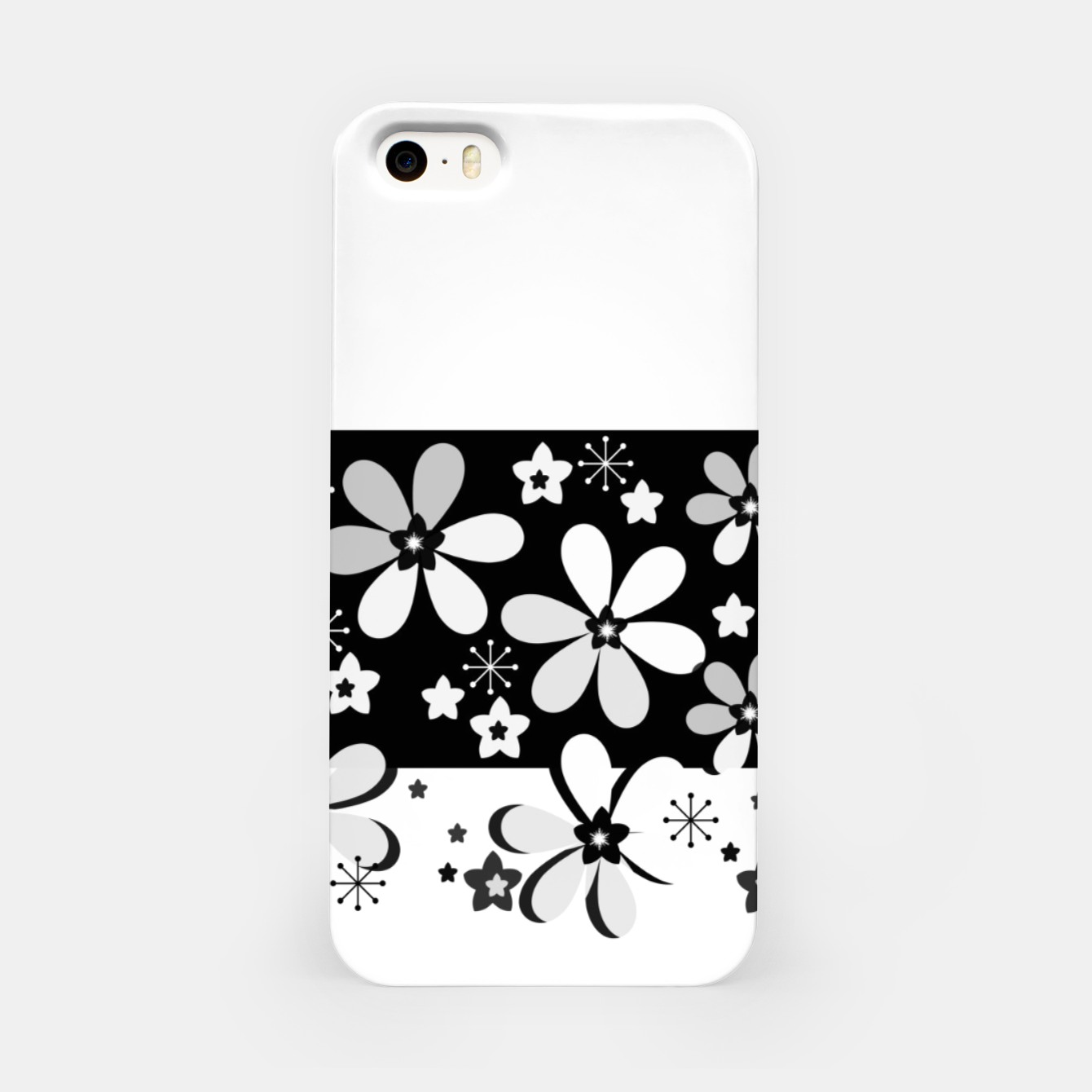 Image of  Black and white daisies iPhone Case - Live Heroes