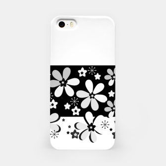 Miniatur  Black and white daisies iPhone Case, Live Heroes