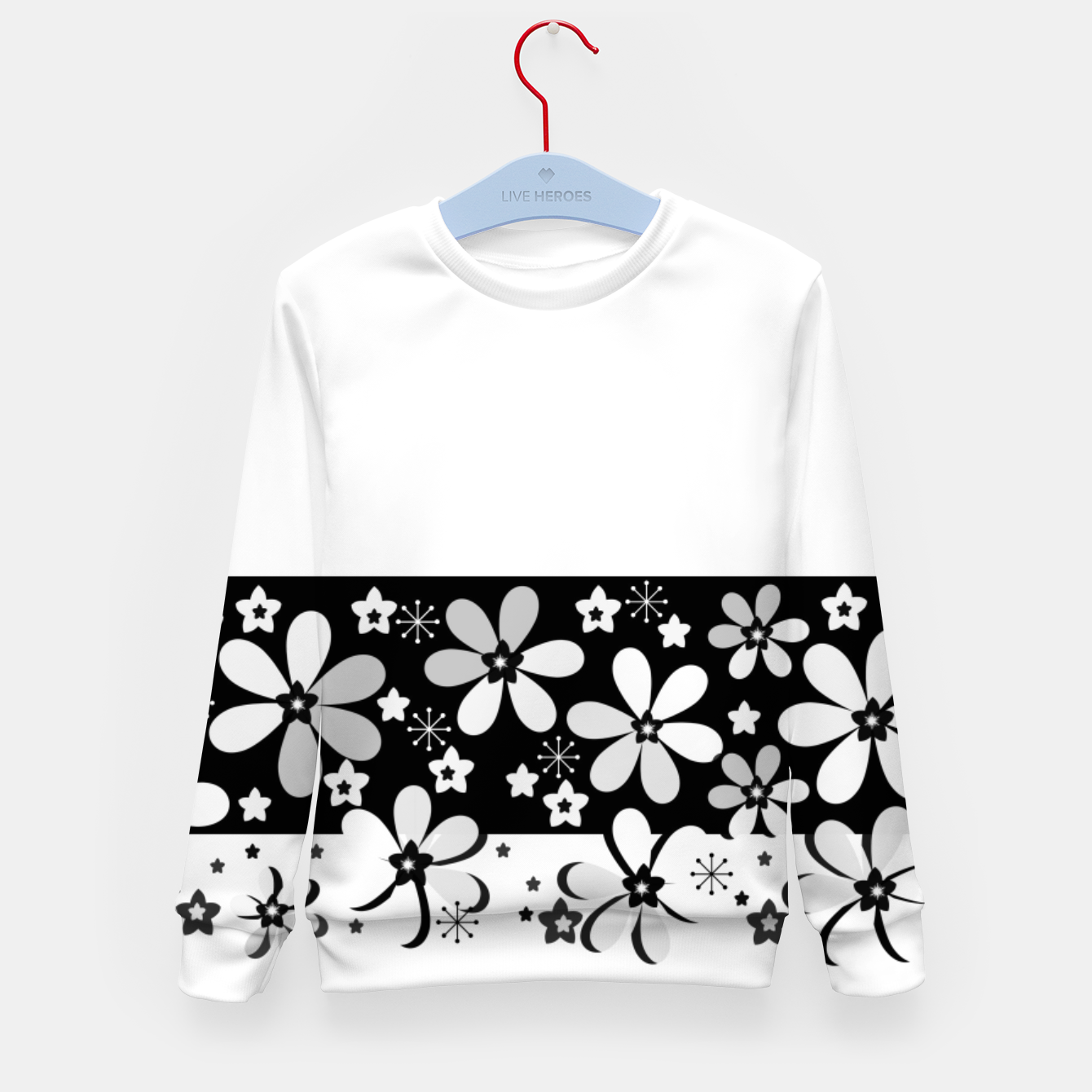 Image of  Black and white daisies Kid's sweater - Live Heroes
