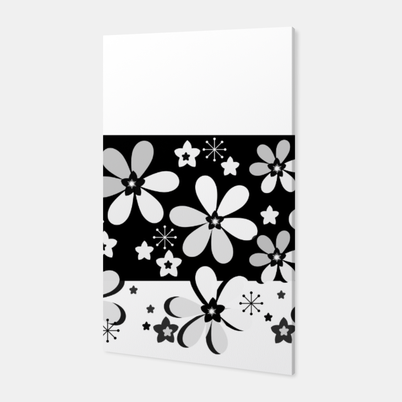 Image of  Black and white daisies Canvas - Live Heroes