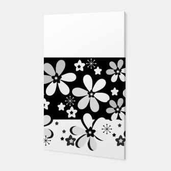 Black and white daisies Canvas thumbnail image