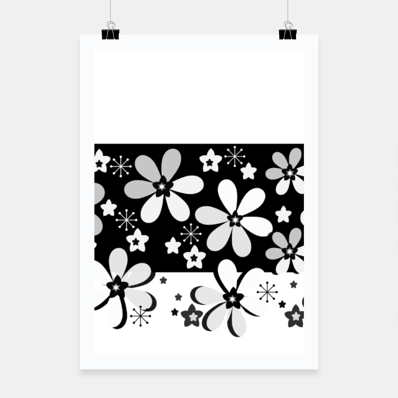 Image of  Black and white daisies Poster - Live Heroes