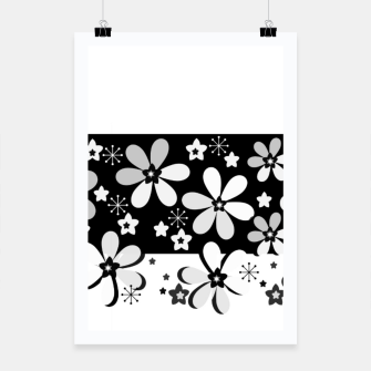 Miniatur  Black and white daisies Poster, Live Heroes
