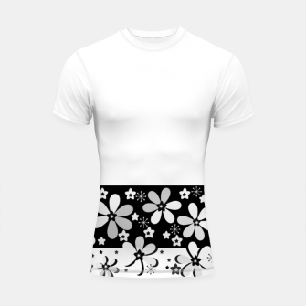 Miniatur  Black and white daisies Shortsleeve rashguard, Live Heroes