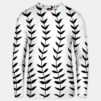 Minimal Black & White Leaves #1 #minimal #decor #art  Unisex sweatshirt miniature