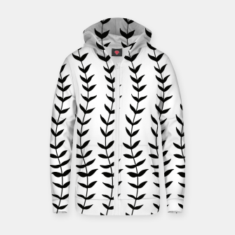 Minimal Black & White Leaves #1 #minimal #decor #art  Reißverschluss kapuzenpullover miniature