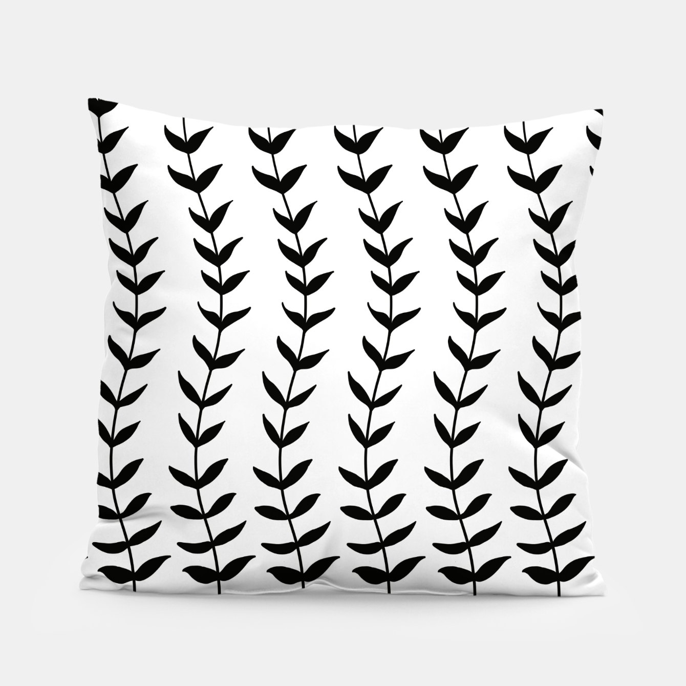 Image de Minimal Black & White Leaves #1 #minimal #decor #art  Kissen - Live Heroes