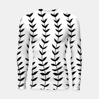 Minimal Black & White Leaves #1 #minimal #decor #art  Longsleeve rashguard miniature
