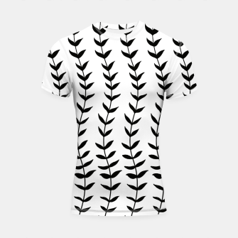 Minimal Black & White Leaves #1 #minimal #decor #art  Shortsleeve rashguard miniature