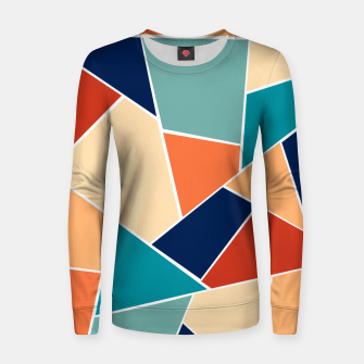Retro Summer Geometric Glam #1 #geo #decor #art  Frauen sweatshirt obraz miniatury