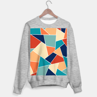 Retro Summer Geometric Glam #1 #geo #decor #art  Sweatshirt regulär obraz miniatury