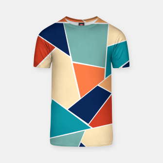 Retro Summer Geometric Glam #1 #geo #decor #art  T-Shirt obraz miniatury