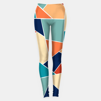 Retro Summer Geometric Glam #1 #geo #decor #art  Leggings obraz miniatury