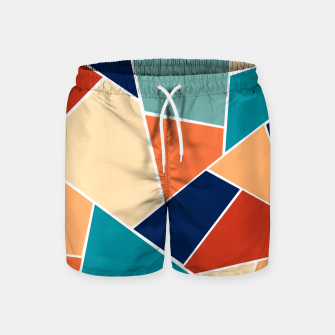 Retro Summer Geometric Glam #1 #geo #decor #art  Badeshorts obraz miniatury