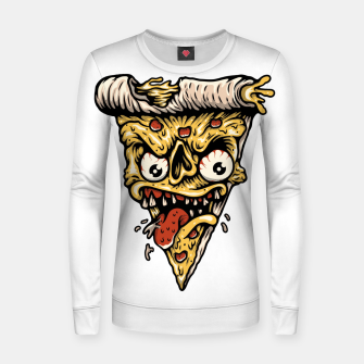 Thumbnail image of Pizza Monster Women sweater, Live Heroes