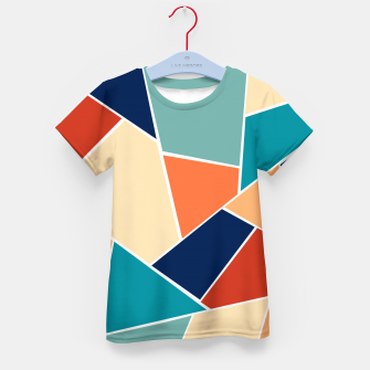 Retro Summer Geometric Glam #1 #geo #decor #art  T-Shirt für kinder obraz miniatury