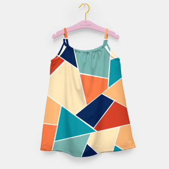 Retro Summer Geometric Glam #1 #geo #decor #art  Mädchenkleid obraz miniatury