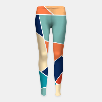Retro Summer Geometric Glam #1 #geo #decor #art  Kinder-Leggins obraz miniatury