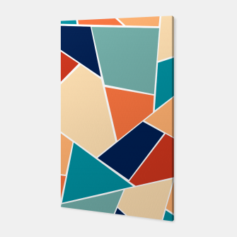 Retro Summer Geometric Glam #1 #geo #decor #art  Canvas obraz miniatury