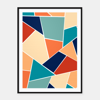 Thumbnail image of Retro Summer Geometric Glam #1 #geo #decor #art  Plakat mit rahmen, Live Heroes