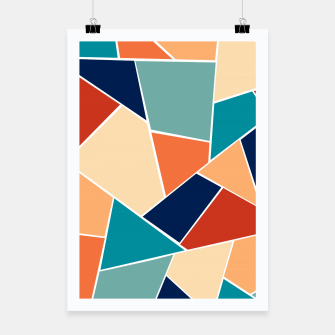 Retro Summer Geometric Glam #1 #geo #decor #art  Plakat obraz miniatury