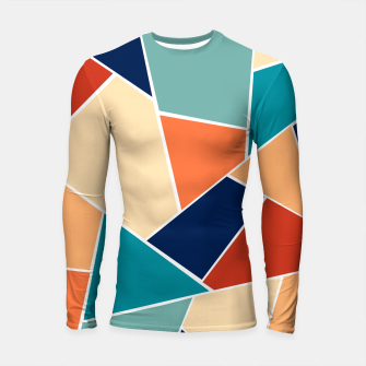 Thumbnail image of Retro Summer Geometric Glam #1 #geo #decor #art  Longsleeve rashguard, Live Heroes