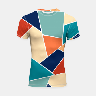 Retro Summer Geometric Glam #1 #geo #decor #art  Shortsleeve rashguard obraz miniatury