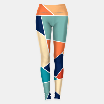 Miniaturka Retro Summer Geometric Glam #1 #geo #decor #art  Leggings, Live Heroes