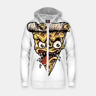 Pizza Monster Zip up hoodie Bild der Miniatur