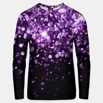 Dark Night Purple Black Glitter #1 (Faux Glitter) #shiny #decor #art Unisex sweatshirt obraz miniatury