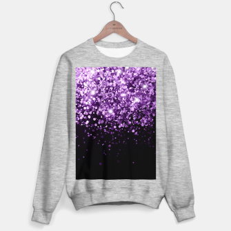 Miniature de image de Dark Night Purple Black Glitter #1 (Faux Glitter) #shiny #decor #art Sweatshirt regulär, Live Heroes