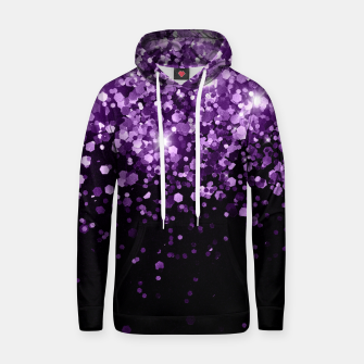 Thumbnail image of Dark Night Purple Black Glitter #1 (Faux Glitter) #shiny #decor #art Kapuzenpullover, Live Heroes